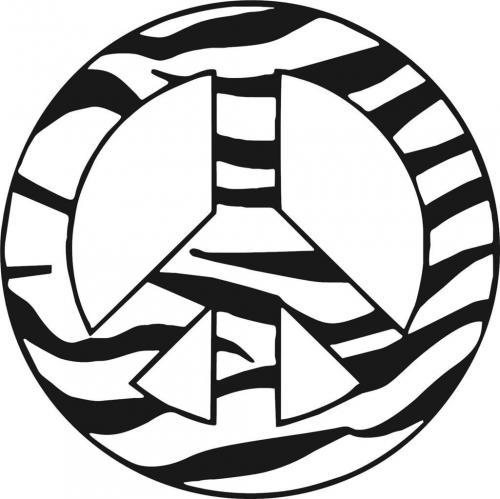 simbolo della pace zebrato