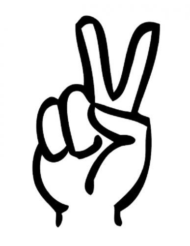 mano in segno di pace