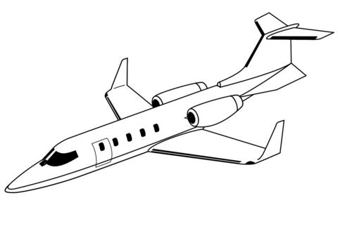 immagini di aerei da colorare
