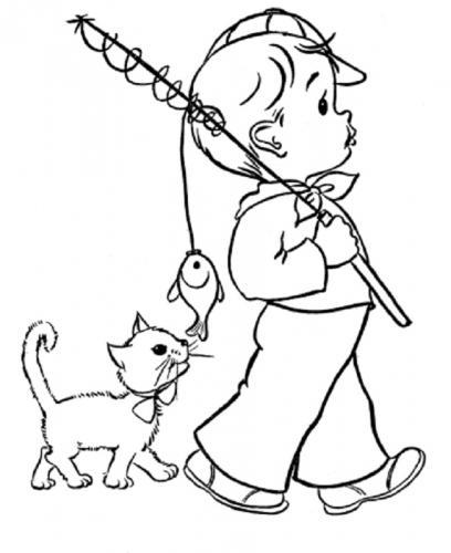 bimbo con un gatto