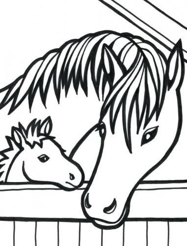 immagini di cavalli da colorare