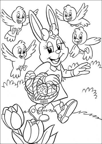 immagini di conigli da colorare