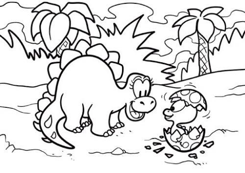 immagini di dinosauro da colorare