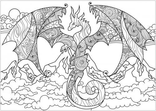 immagini di draghi da colorare e stampare