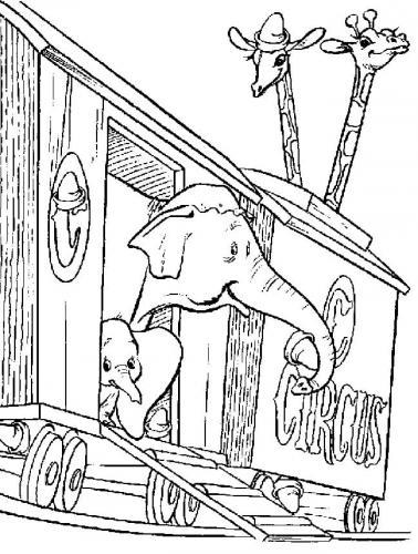 immagini di Dumbo da colorare