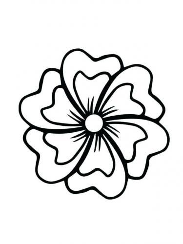 immagini di fiori da colorare per bambini