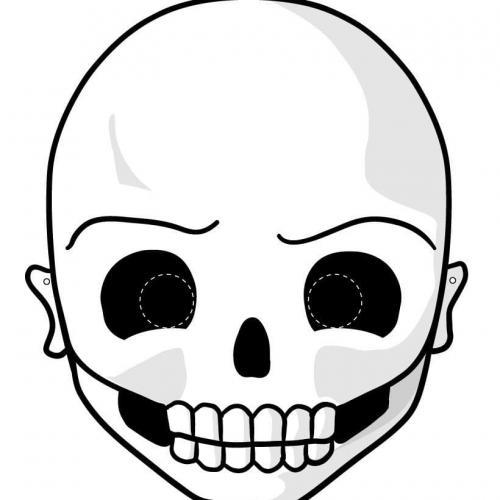 maschera di un teschio
