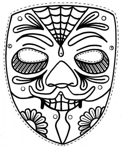 maschera paurosa
