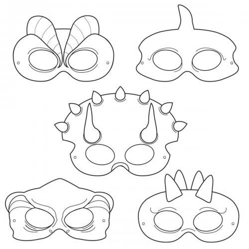 tante maschere di Halloween