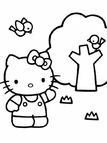 immagini di hello kitty da colorare