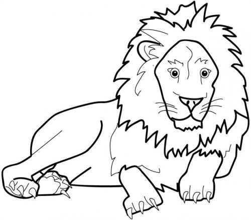 immagini di leone da colorare