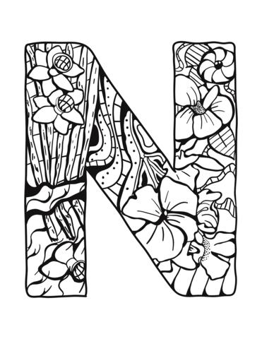 immagini di lettere dell'alfabeto N