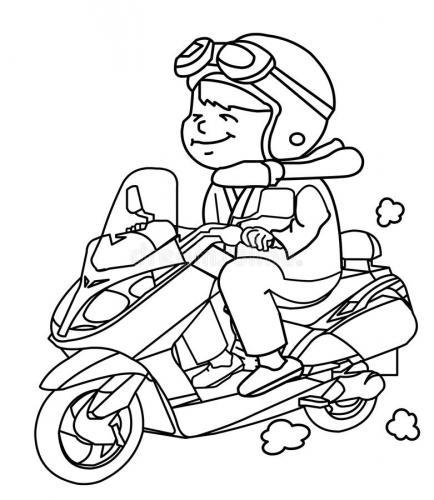 immagini di moto da colorare