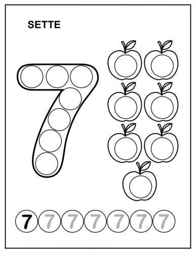 immagini di numeri da colorare 7