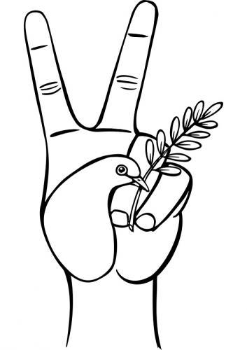 colomba a forma di mano
