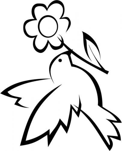 colomba con fiore