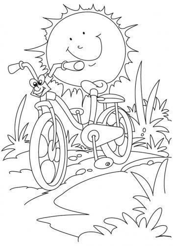 immagine del sole in bicicletta