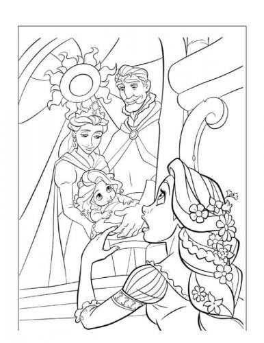 immagini di rapunzel da stampare
