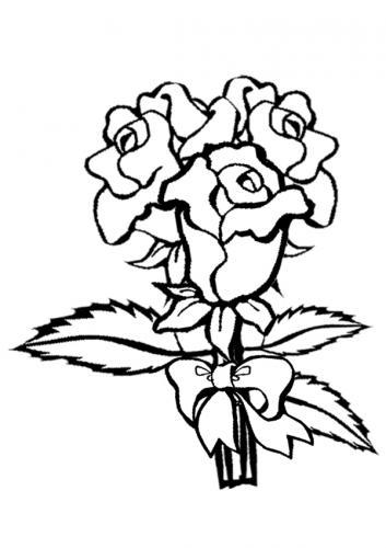 immagini di rose da colorare
