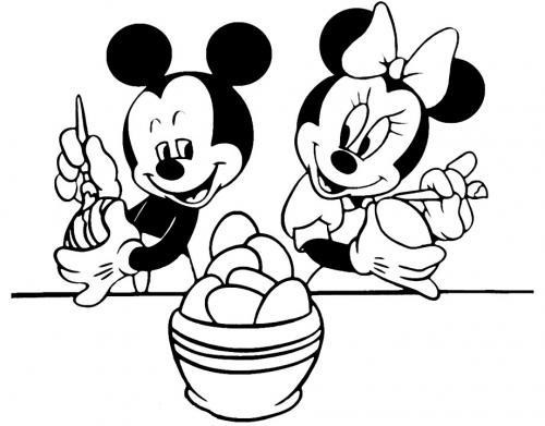 immagini di topolino e minnie da colorare