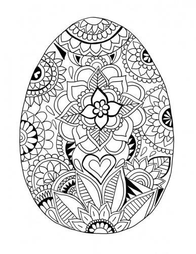 immagini di uova stilizzate di pasqua da colorare