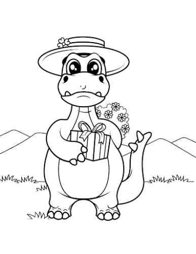 immagini dinosauri da colorare per bambini