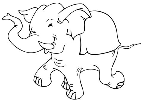 immagini elefante da colorare