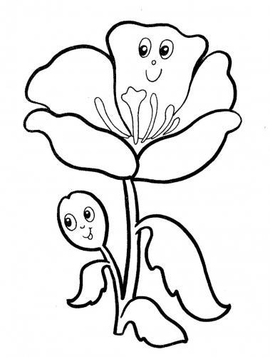 immagini fiori da colorare