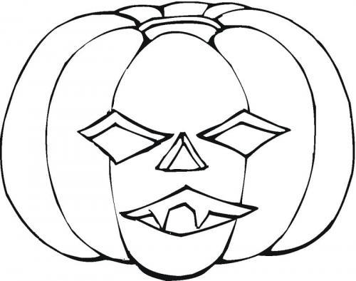 maschera a forma di zucca