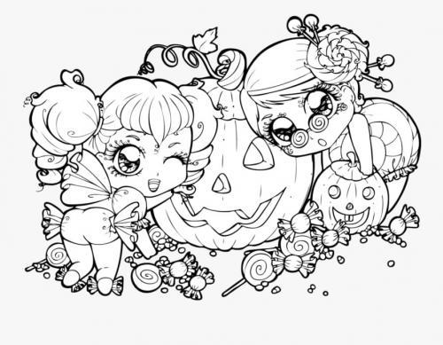 bambine con le zucche