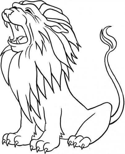 immagini leone che ruggisce