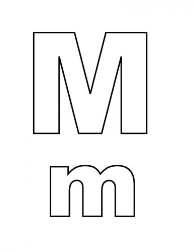 immagini lettere alfabeto M