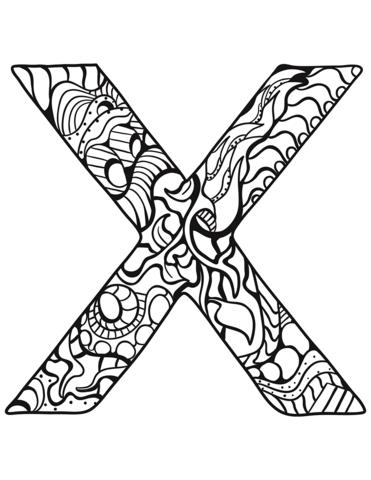immagini lettere alfabeto X