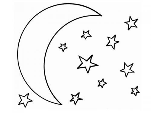 luna con stelline
