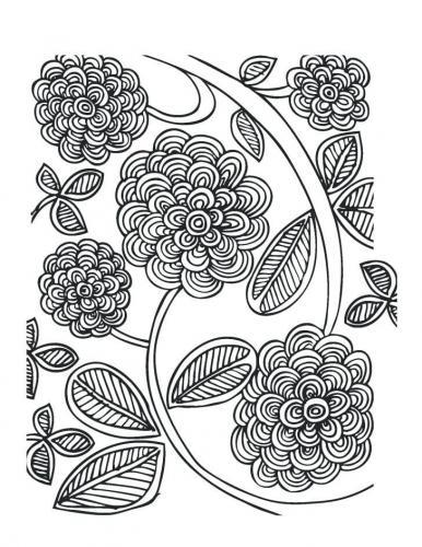 immagini di fiori da colorare