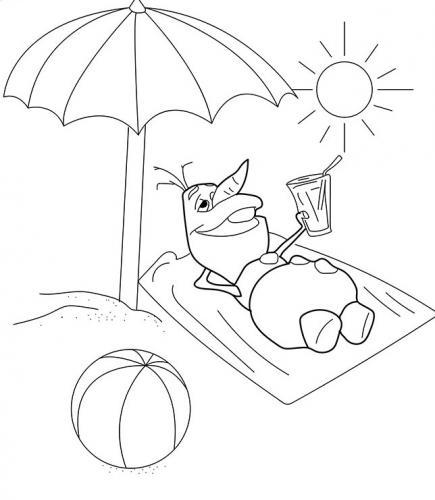 Olaf prende il sole