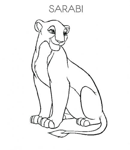 immagini re leone da colorare