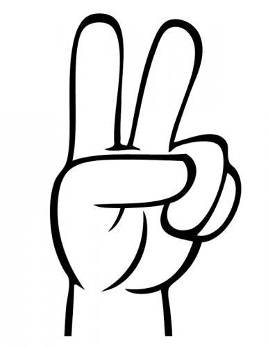 la mano in segno di pace