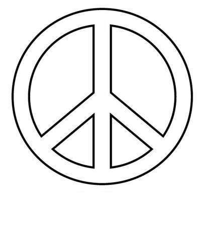 simbolo della pace semplice