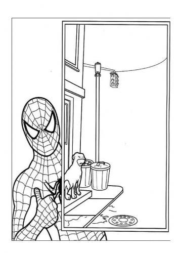 immagini spiderman da colorare