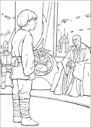 Immagini Star Wars da colorare