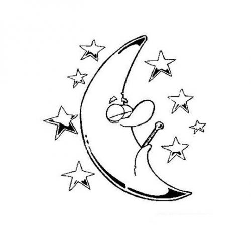 luna malata e stelle