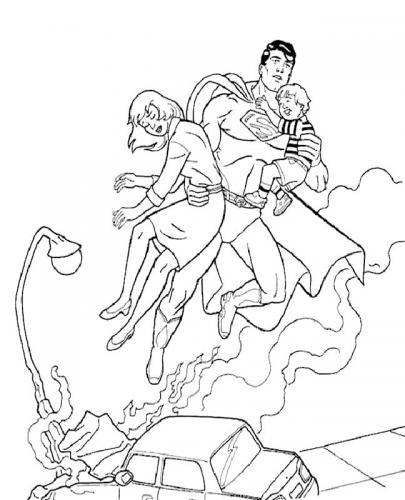 immagini Superman da colorare
