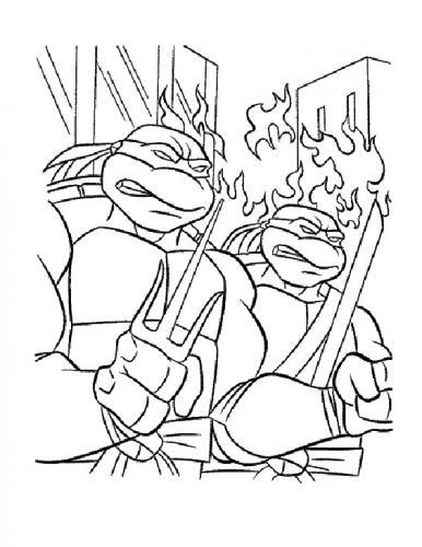 immagini tartarughe ninja da colorare