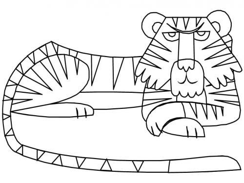 immagini tigre da stampare