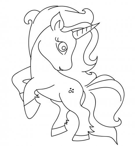 immagini unicorni da colorare