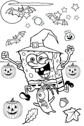 Spongebob con le zucche
