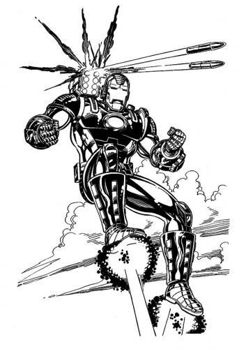 Iron Man che vola