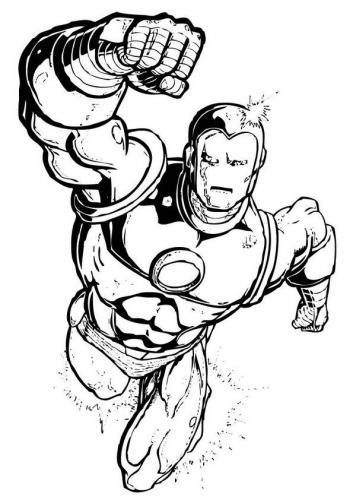 Iron Man da colorare e stampare