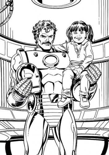 Iron Man da colorare per bambini